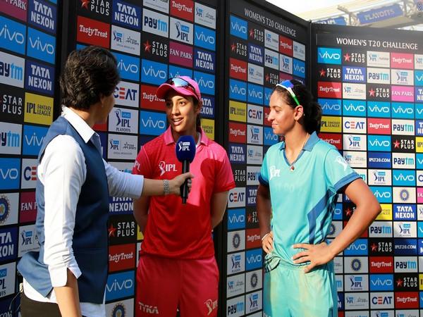 Harmanpreet Kaur and Smriti Mandhana with former India captain Anjum Chopra (Photo/BCCI)