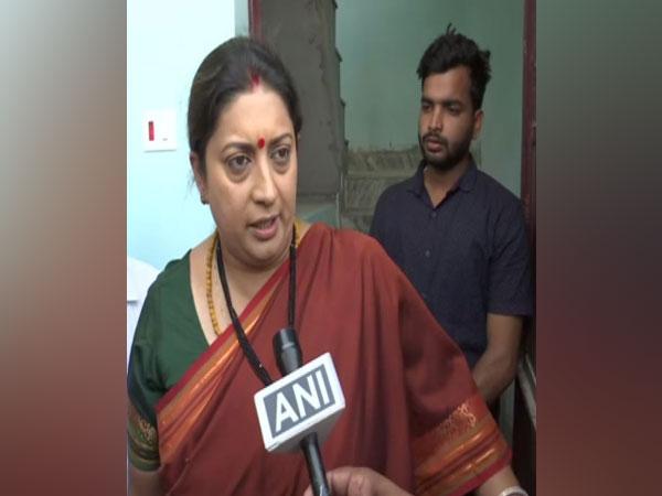Union Minister Smriti Irani talking to ANI at Lucknow on Monday