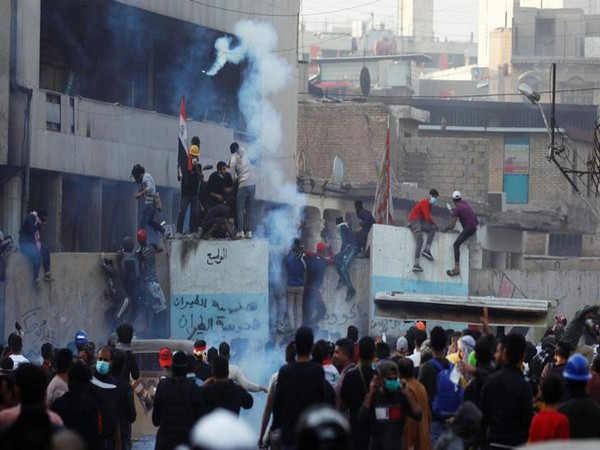 Anti-government protests in Baghdad on Friday