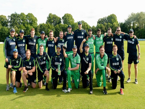 Ireland team with the trophy after registering a six-wickets win over Zimbabwe and clean sweeping the series 3-0. (Photo/ Cricket Ireland Twitter)