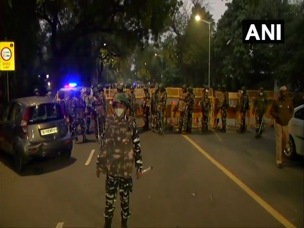 Visuals from the explosion site in New Delhi