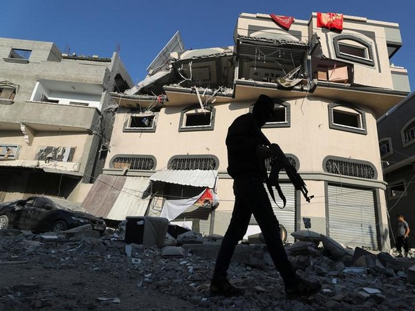 The home of Islamic jihad commander Baha Abu Al Ata in Gaza city after airstrike. (File photo)