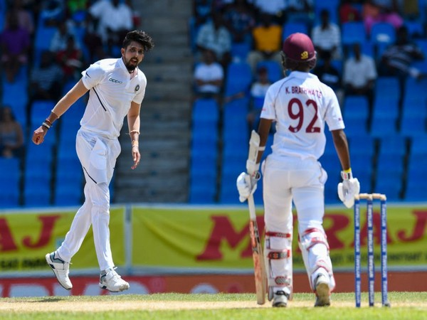 Indian pacer Ishant Sharma bags fifer on the second day of Test match. (Photo/Windies Cricket Twitter)