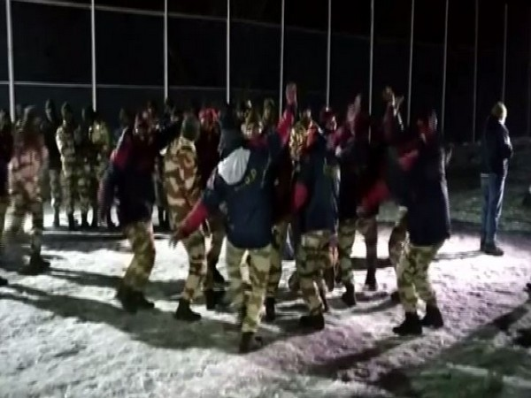 ITBP jawans celebrated New Year in Auli