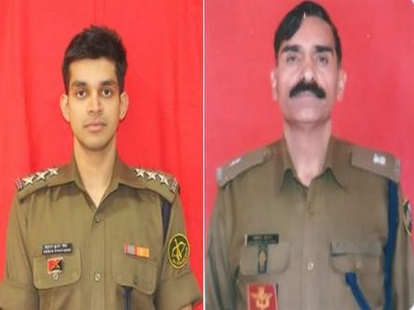 Assistant Commandant Anurag Kumar Singh (left) and Deputy Commandant Rajesh Kumar Luthra