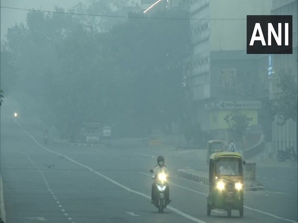 Visual from ITO area in the national capital on Sunday morning. (Photo/ANI)