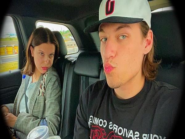 Jake Bongiovi and Millie Bobby Brown (Image Source: Instagram)