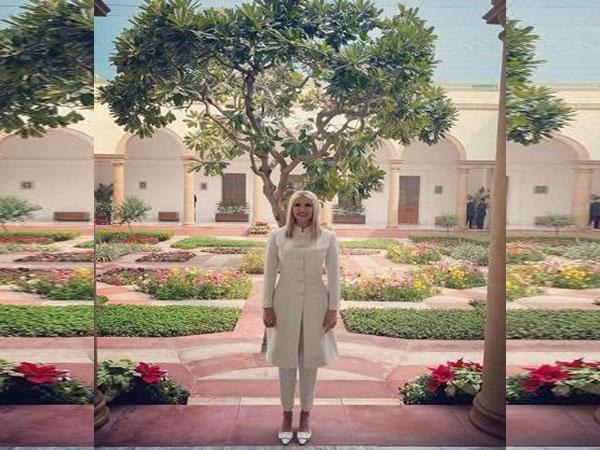 Ivanka Trump wearing Anita Dongre label (Image Source: Instagram)
