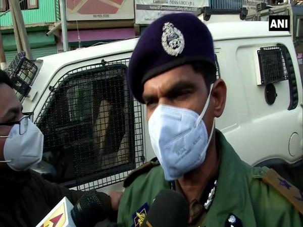 IGP Kashmir, Vijay Kumar speaking to reporters on Thursday.