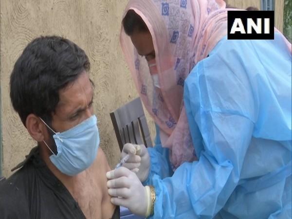 Visual of vaccination drive in Rajouri's Dhar village. (Photo/ANI)