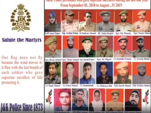 A screen grab from the video posted by Jammu and Kashmir Police.