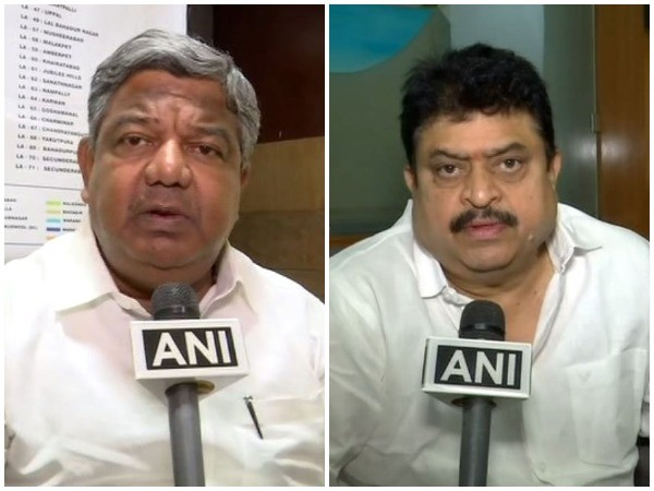 TPCC spokesperson Gudur Narayan Reddy (Left), BJP MLC Ramchandra Rao (Right)