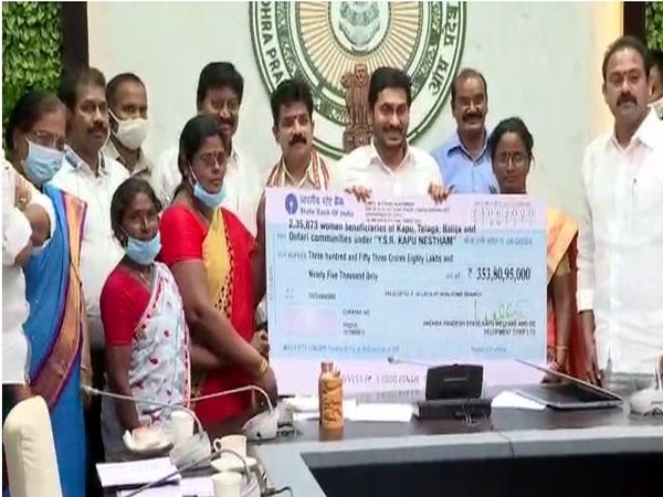 Andhra Chief Minister YS Jaganmohan Reddy during launch of the scheme.