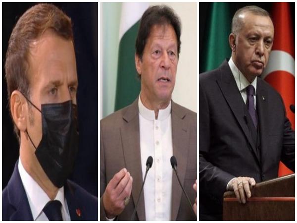Emmanuel Macron, Imran Khan, Recep Tayiip Erdogan