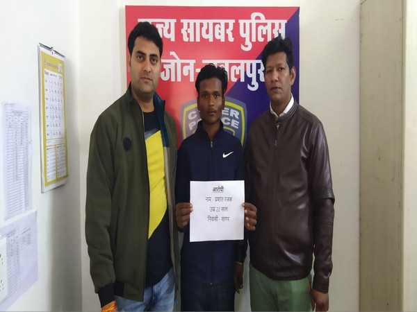 The accused under police custody in Jabalpur on Sunday