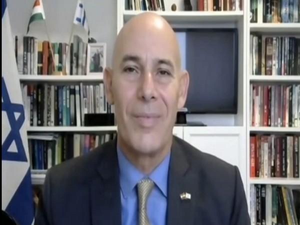 Israeli ambassador Ron Malka speaking to ANI on Sunday. (Photo/ANI)