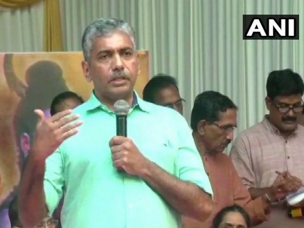 Suspended Kerala DGP Jacob Thomas speaking at an event in Thrissur on Thursday
