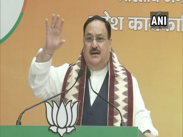 JPNadda addresses Odisha BJP State Executive meeting via video conferencing on Saturday. [Photo/ANI]