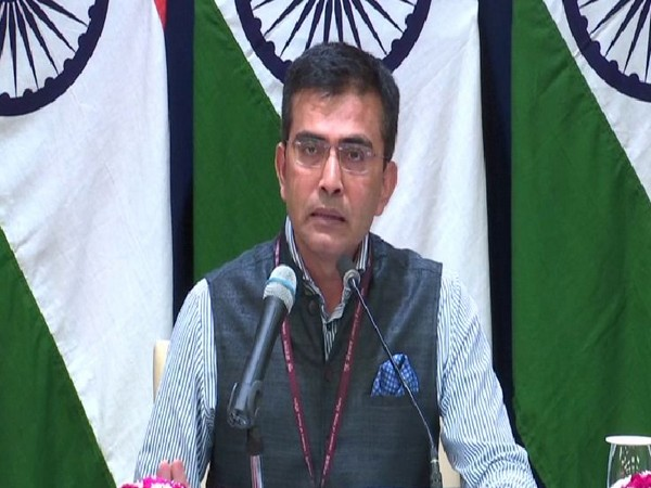 Raveesh Kumar, spokesperson of the Ministry of External Affairs, speaking during a press briefing in New Delhi on Thursday. Photo/ANI