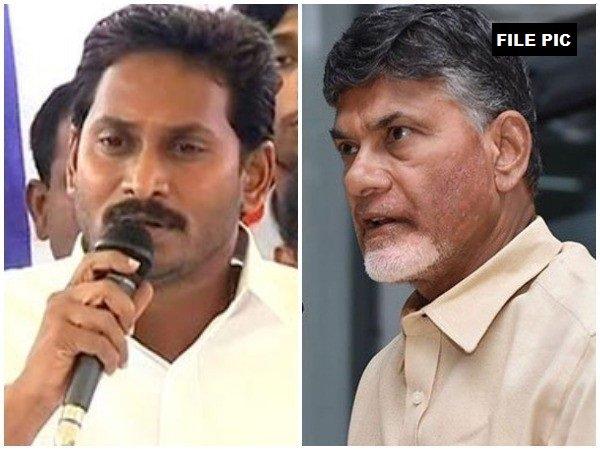 CM Jaganmohan Reddy (L) and Chandrababu Naidu (R) (File photo/ANI)