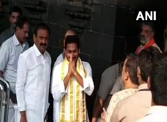 Andhra Pradesh Chief Minister-designate YS Jagan Mohan Reddy at Lord Venkateswara temple in Tirumala, Andhra Pradesh on Wednesday.