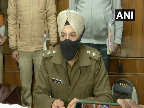 Sonipat SP Jashandeep Singh Randhawa during a press conference on Saturday. (Photo/ANI)