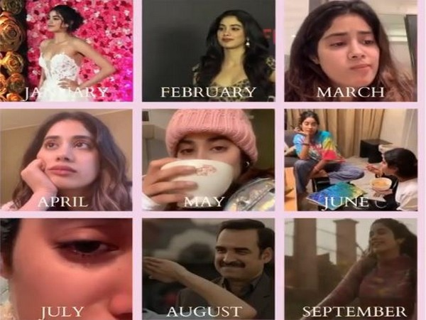 Collage of boomarang shared by Janhvi Kapoor (Image courtesy: Instagram)