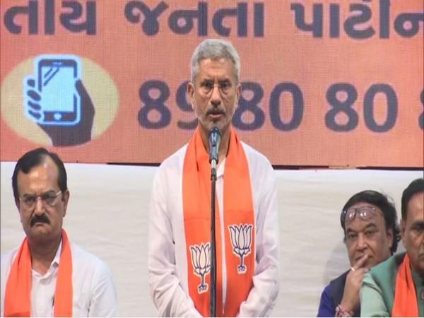EAM S Jaishankar while attending BJP membership drive in Ahmedabad on Saturday. [Photo/ANI]