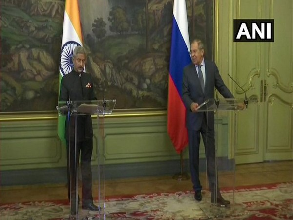 External Affairs Minister (EAM) S Jaishankar at a joint Press Conference with Russian Foreign Minister Sergey Lavrov on Friday.