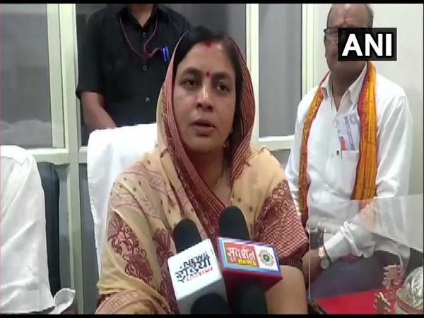 BJP MLA from Ganj Basoda, Leena Jain in Vidisha, Madhya Pradesh on July 1.