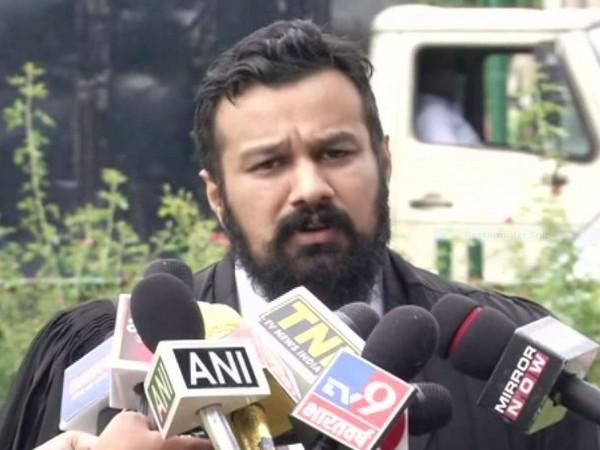 Vishnu Jain, Lawyer of Hindu Mahasabha briefing press in New Delhi on Friday