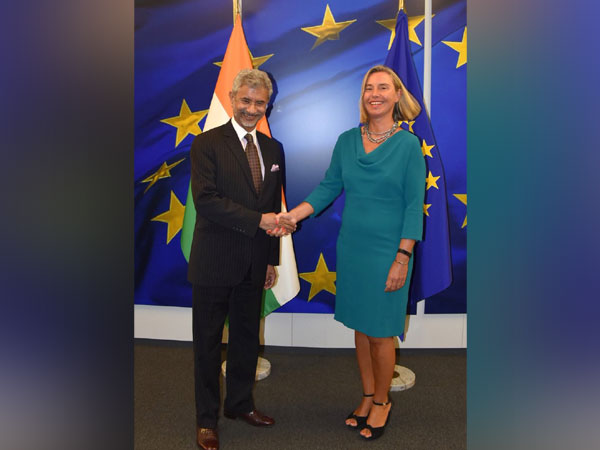 EAM Jaishankar with European Union's Foreign Policy chief Federica Mogherini. (picture courtsey S Jaishankar)