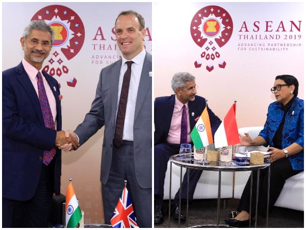 External Affairs Minister S. Jaishankar with his British and Indonesian counterparts in Bangkok on Thursday