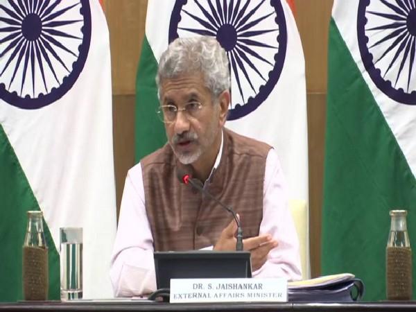 External Affairs Minister S Jaishankar speaking to media on Tuesday