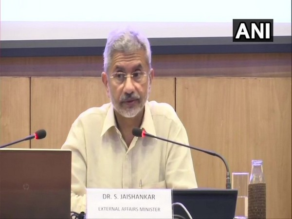 External Affairs Minister S Jaishankar speaking during the launch of MEA Performance Smartboard on Wednesday.