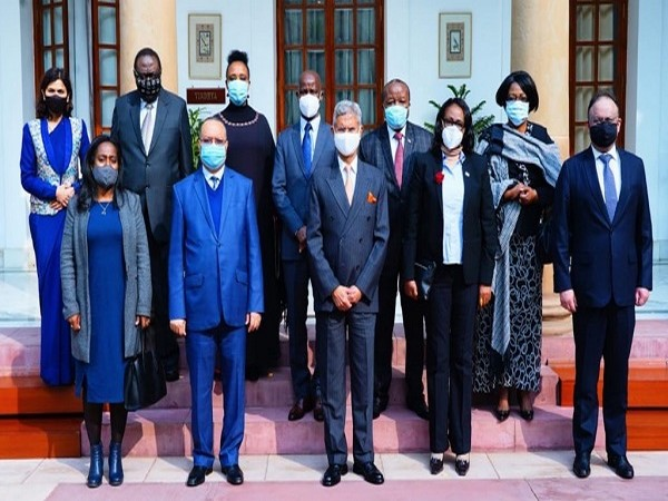 EAM Dr S Jaishankar holds talks with his counterparts from African countries (Photo Credit: Twitter/ S Jaishankar)