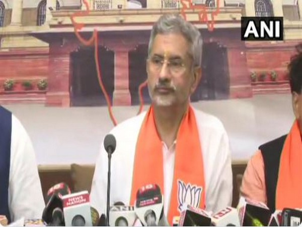 External Affairs Minister S Jaishankar filed after filing his nomination on Tuesday.(Photo/ANI)