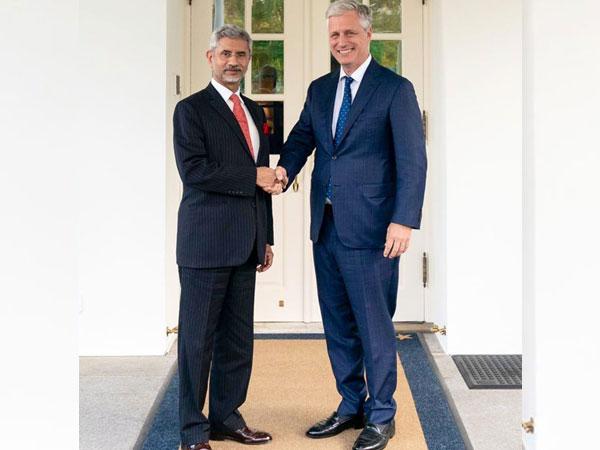 EAM Jaishankar met US NSA Robert O'Brien in Washington on Thursday. (Photo courtesy: S Jaishankar Twitter handle)