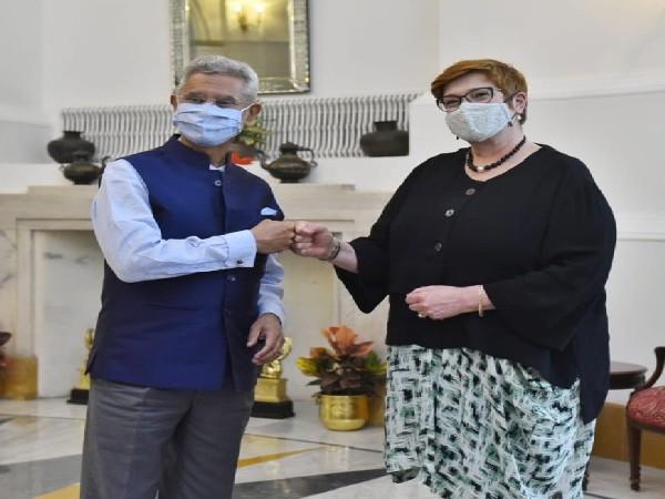 External Affairs Minister S Jaishankar with his Australian counterpart Marise Payne.