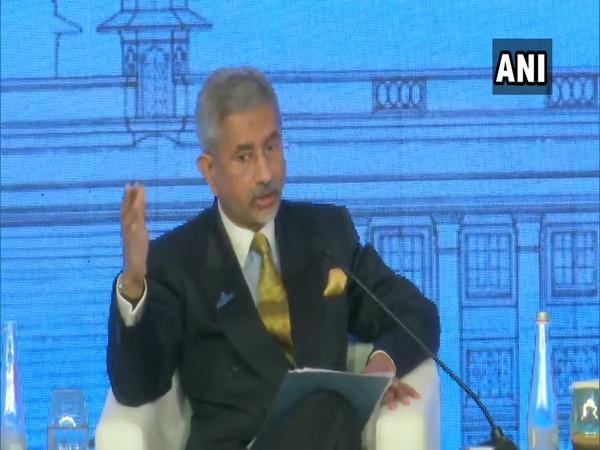 External Affairs Minister S Jaishankar speaking at Raisina Dialogue in New Delhi on Wednesday.