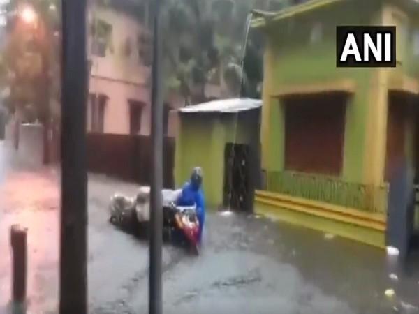 West Bengal: Heavy rainfall triggers waterlogging in some areas of Jalpaiguri. [Photo/ANI]