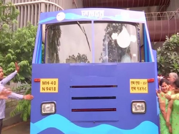 Jaldoot, a bus with an exhibition on water conservation was flagged off by Union Minister Prakash Javdekar in Pune in Maharashtra on Saturday. Photo/ANI