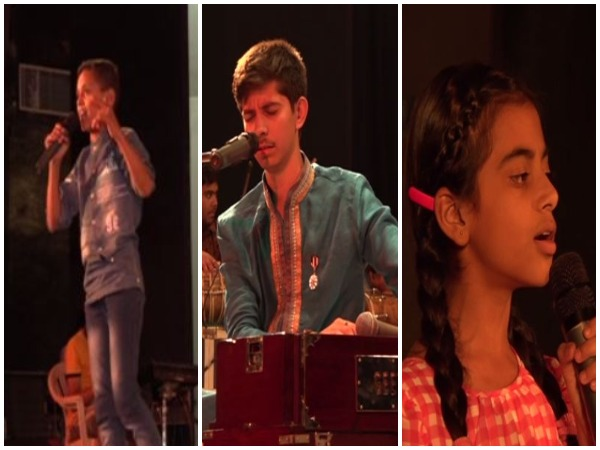 Young boys and girls participated in singing talent hunt show 'Choona Hai Aasman' in Udhampur on Tuesday