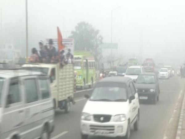 A thick blanket of fog engulfed Jammu on Tuesday morning [Photo/ANI]
