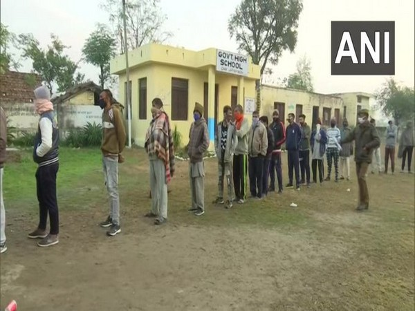 During the DDC election in J-K on Friday. (Photo/ANI)