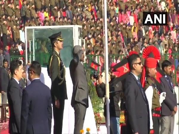 Lieutenant Governor Jammu and Kashmir, Girish Chandra Murmu ar Republic Day Parade in Jammu on Sunday.