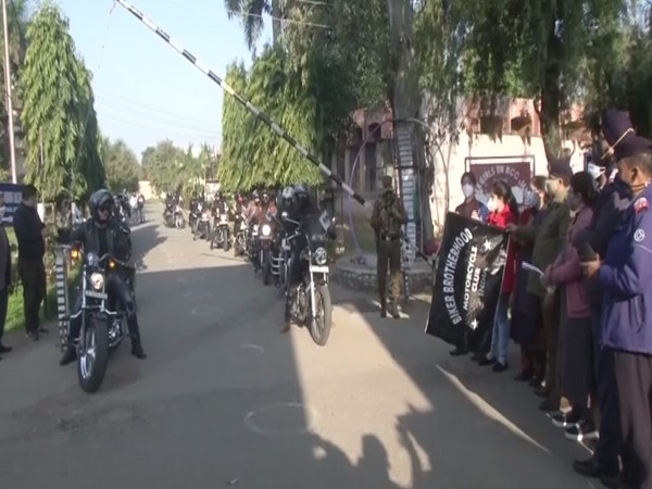 Bike rally held at Jammu make people aware of road safety (Photo/ ANI)