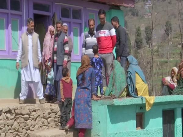 Locals working in Budhal block under MNREGA. (Photo/ANI)