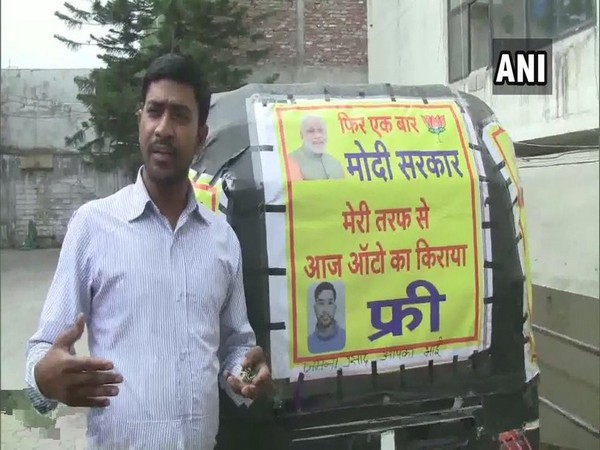 Jamuna Prasad, Uttarakhand-based auto driver, offering free rides to commuters.