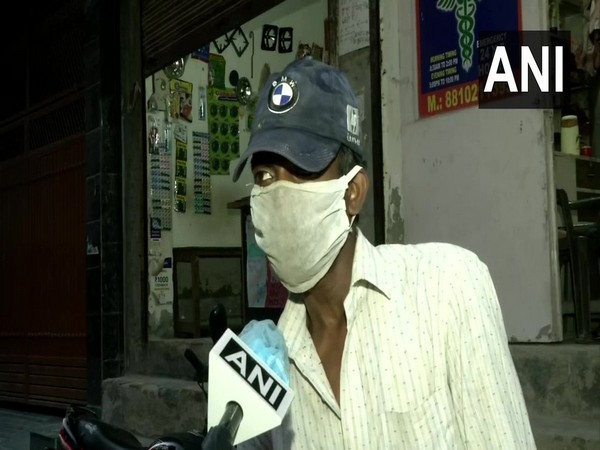 A migrant labourer speaking to ANI on Wednesday. Photo/ANI